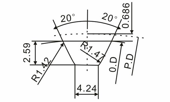 H带轮齿形图