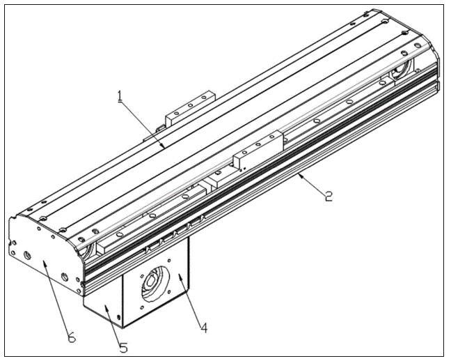 一种驱动装置下置的紧凑型同步带模组